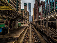 Trumped up (Mobilus In Mobili) Tags: chicago illinois interesting flickr cta el explore motivational mobili mobilus mobilusinmobili chicago2015