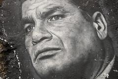 Rafael Correa, painted portrait _DDC2296