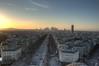 Île-de-France. La Paris. (andrewharding127) Tags: road city light sunset sun paris france cars canon dark europe arc triomphe leading hdr bois boos 500d