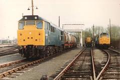 31273 08946 31256 ( 31459 ) Oxford Depot 30th April 1983 (Skelton80s) Tags: oxford april depot 1983 30th 31273 31256 08946