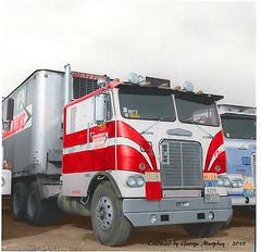 Frieghtliner Watkins (gdmey) Tags: freightliner reefer semitruck colorized trucks transportation