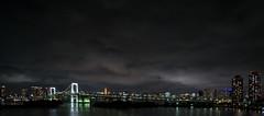 Odaiba Seaside Park (fredrikrosenfors) Tags: tokyo japan asia odaiba night view city bridge sony a6000 cityscape clouds