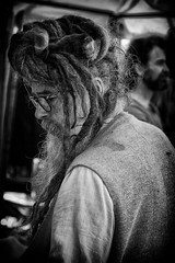 Hair Man (Steve Greene Photography) Tags: street people urban blackandwhite man monochrome hair candid tewkesbury nikond40