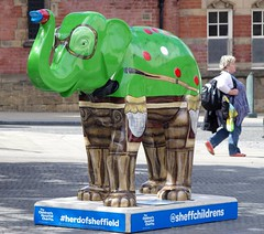 Herd of Sheffield elephant sculptures (12) (Simon Dell Photography) Tags: herdofsheffield herdof sheffield herd eliphants statues town city sculptures colorfull awsome 2016 trail see find them locations