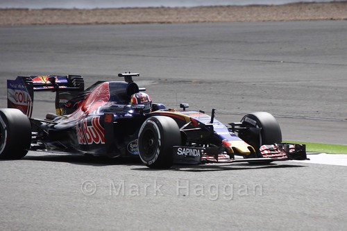Daniil Kvyat in his Toro Rosso in Free Practice 2 at the 2016 British Grand Prix at Silverstone