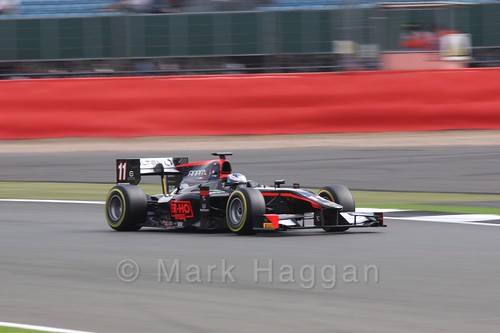 Gustav Malja in the Rapax car in GP2 Qualifying at the 2016 British Grand Prix