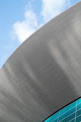 London Aquatics Centre - II (photosam) Tags: fujifilm xe1 fujifilmx prime raw lightroom xf35mm114r xf35mmf14r london england unitedkingdom stratford eastlondon london2012 swimmingpool olympiclegacy architecture modernist zahahadid abstract blue grey