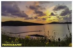 PONTOON SUNSET (Angus MacLeod photography) Tags: sunset sea sky beach grass scotland sand bluesky cups butter harris hebrides highlandsislands horgabost