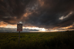 Don't Fight The Light (Rob Pitt) Tags: sunset sky cloud sign cheshire outdoor military tokina filter area range restricted burton firing graduated wirral marshes the deeside 1116 nd8