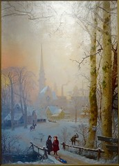 Untitled By Henry Wolcott Boss (pecooper98362) Tags: binghamton newyork robersonmuseumsciencecenter robersonmansion mainroom henrywolcottboss oiloncanvas painting untitled mysteryartist winterscene