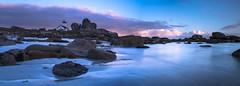 panorama Pontusval (fubu.flemm) Tags: phare mer bretagne borddemer paysage panorama rochers sable plage ocan ocean seaside sea sand