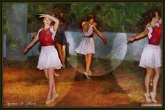 Composizione con ballerine - Luglio-2016 (agostinodascoli) Tags: art texture photoshop nikon colore danza digitalart persone digitalpainting donne nikkor sicilia ballo photopainting ballerine fullcolor cianciana