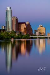 Austin Twighlight Reflection (Travis Klingler (SivArt)) Tags: reflection austin cityscape texas sunset twilight