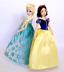 Snow & Ice (honeysuckle jasmine) Tags: disney store snow white seven dwarfs doll frozen queen elsa arendelle princess dolls barbie
