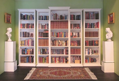 The Library Renovations Are Complete (MurderWithMirrors) Tags: library books miniaturebooks handmade 16 mwm