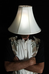 The Old Lampshade Trick (The.Mickster) Tags: self randy 365 lamp hereios portrait