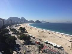 Copacabana beach from a penthouse