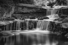 Man Made falls (Alan-Taylor) Tags: waterfall water bigstopper leefilter canon 70d sigma1770 blackandwhite bw eastmorton bingley yorkshire