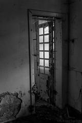 Open door (rvanhegelsom) Tags: europe old urban urbex urbanexploration urbexworld urbxtreme rural portugal abandoned derelict hospital sanatorium indoors indoor door window windows