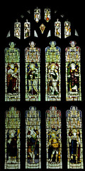 Much Marcle Herefordshire - West Window (David Cronin) Tags: muchmarcle herefordshire bartholomew saintbartholomew stained glass stainedglass kempe cekempe