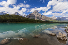 Mount Chephren and Waterfowl Lake, Banff National Park (PhotoDG) Tags: waterfowllake banffnationalpark waterfowl lake banff nationalpark landscape canadianrockies colour reflection water polarizer rockymountains glacierfed glacier alberta canada wideangle mountchephren icefieldparkway