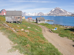 Town (James E. Petts) Tags: greenland kulusuk houses road sled town