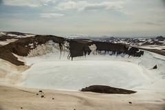 Krafla Viti Crater 05 (sarahmonious) Tags: kraflaviticrater kraftla viti myvatn kraftlavolcano volcanocrater crater hverir snow route1iceland route1 ringroad iceland iceland2016 icelanding2016 traveling