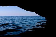 Blue Cave (MaxDimi) Tags: blue cave montenegro kotor water sea ocean grotto dark sky waves silhouette