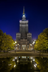 Warsaw (Job I) Tags: warsaw towers night architecture long exposure skyscrapper structure steel stone city urban landscape palace culture paac kultury nauki travel world europe poland