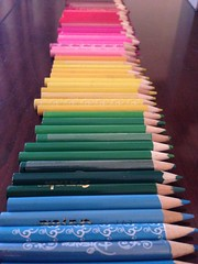 So many pencils (the_amanda) Tags: pencils coloured rainbow many colourful spectrum overrun excess surplus short colouring stationery
