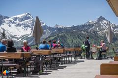 Terrace at Frd (HendrikMorkel) Tags: austria family sonyrx100iv vorarlberg sterreich bregenzerwald mountains alps alpen berge natursprngewegbrandnertal