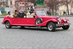 Praha SAM (Prague vintage car) (srkirad) Tags: praha sam prague vintage winter red cabriolet cabrio alfaromeo