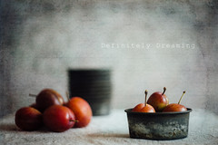 Home Grown Plums (with Vintage Lens) (DefinitelyDreaming) Tags: plums homegrown fruit foodphotography foodasart manchesterfoodphotographer helios442 vintagelens vintagecookware sonya99 2lilowls textures