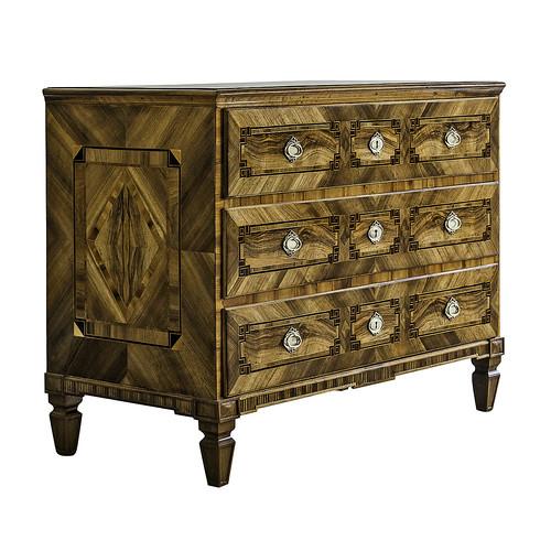 Louis XVI Period Inlaid Walnut Chest of Drawers