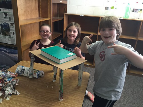 4th Graders Make a Paper Table! by Wesley Fryer, on Flickr