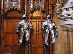 Suits of Plate (jere7my) Tags: greatbritain vacation castle scotland edinburgh edinburghcastle unitedkingdom armor fortress castlerock lances greathall 2014 platemail suitsofarmor embrah