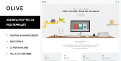 Olive : Agency/Portfolio PSD Template (Portfolio) (lachellecoston) Tags: light shopping personal small minimal clothes ecommerce minimalist lightshop personalportfolio minimalwebsite minimalshop personalwebsitevirtualshop