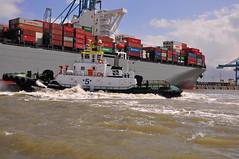 Millau Bridge (larry_antwerp) Tags: haven port ship belgium vessel container antwerp tug schelde kline millaubridge sleepboot schip multratug5 9350161 antwerptowage shoeikisen 9706736