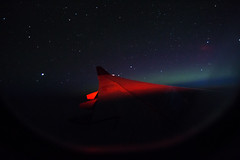 Northern Lights seen from a plane window... (daniela beckmann) Tags: lights northern