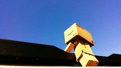 Summer skies (karmenbizet73) Tags: summer sky art toys photography flickr toystory cruising cadillac sunroof sunnyday blueskys eyespy danbo 140365 danboard photodevelopment danbolove toysunderthebed 2015365photos