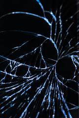 Creep on cracked screen (Olli Karjalainen) Tags: broken glass samsung galaxy dcr250 raynox raynoxdcr250 note2 makrokuvia
