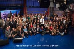 Foo Fighters on Late Show - group photo (2014) (rds323) Tags: lateshow latenight davidletterman lateshowwithdavidletterman edsullivantheater latenightwithdavidletterman lateshowstaff