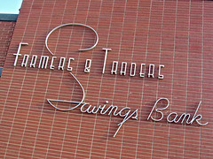Farmers & Traders Savings Bank, Bancroft, IA (Robby Virus) Tags: money sign typography farmers bank iowa signage font savings banking bancroft traders