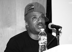 IMG_9542bw (Brotha Kristufar) Tags: nyc bw ny college monochrome closeup portraits canon campus 50mm marketing athletics shoes panel zoom market culture indoor nike 300mm jordan business indoors footwear portraiture sneaker week conference consultant discussion hip hop press wes owner businesses ewing portrat panelist evers medgar panelists entreprenuer brokklyn