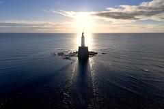 Sunrise at Rattray Head (iancowe) Tags: morning shadow sea cloud lighthouse beach silhouette rock sunrise dawn scotland aberdeenshire head board scottish stevenson northern fraserburgh peterhead rattrayhead rattray nlb