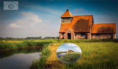 Crystal Ball Moment at Fairfield. (John's taken it. PEACE.) Tags: crystalball beacheslandscapes fairfield church romneymarsh