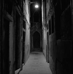 Venice (austin granger) Tags: venice italy night alley streetlight portal doorway austingranger film gf670