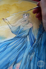 Stardust - wip2 (The Girl with the Flaxen Hair) Tags: illustration watercolor painting workinprogress fanart stardust neilgaiman animemanga natiart stardustneiolgaiman