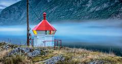 IMGP1896_1 (jarle.kvam) Tags: lighthouse norway fog fjord tke sognefjord fyrlykt