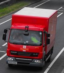 Royal mail PE63 NSK at Welshpool (Joshhowells27) Tags: lorry truck daf lf box